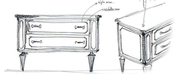 Petit, l'elegante mobile da bagno d'ispirazione settecentesca